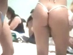 beach ass girls in micro thong