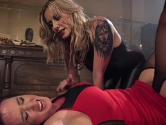 Fabulous fetish, lesbian sex video with exotic pornstars Virginia Tunnels and Maitresse Madeline M.