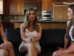 Horny pornstars Tanya Tate, Abby Cross and Jillian Janson in best tattoos, piercing porn movie