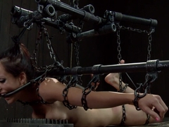Hot Bryn Blayne In Chain Only Suspension Bondage