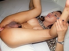 Ladyboy And in Hairy Cock Bareback Gape