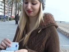 Eurosex amateur facialized outdoor for cash