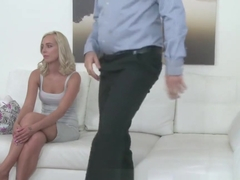 Fake Agent Cute blonde model loves being fucked doggystyle on casting couch