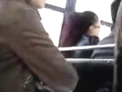 FLASHING SHY GIRL WATCHING MY DICK HEAD ON THE BUS