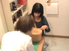 Creampie for slutty Jap during medical examination