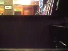 A couple has sex in a bar before a hidden camera