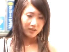 Skirt sharking xxx video with an enticing Asian girl