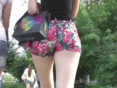 Bouncy Jiggle in Shorts