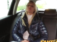 FakeTaxi: Randy golden-haired mother i'd like to fuck likes the 10-Pounder