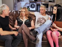 Hottest pornstars Harvey Jay and Rebecca Ryder in horny blowjob, old and young porn clip