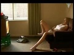 My ### Home Alone Caught Masturbating to Porno
