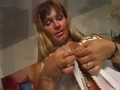 Look on lavish cumshot on her busty tits