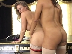 two Sexy Honeys with Knob in Nylons