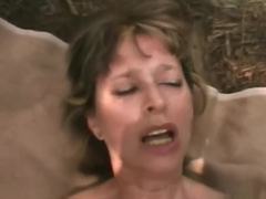 Nasty Granny Sucks Cock And Gets Fucked In The Woods