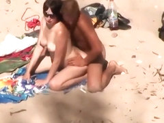 Ass grinding and fucking on a beach
