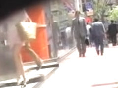 Street sharking encounter with lusty little Japanese hoe being nicely fooled