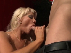 Hot milf gets Johnny's cock after opera perfomance