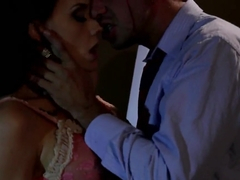 An amazing brunette girl Chanel Preston is sucking a big cock