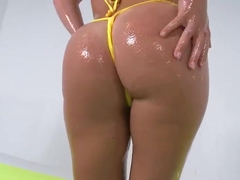 Cool Krissy Lynn gets oiled and assfucked hard