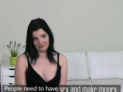 Busty teacher gest fucked in Casting interview