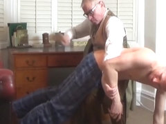 Brutal Bare Ass Hairbrush Spanking For Lad With Bad Grades