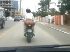 No panties in motorcycle