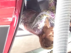 Car wash Mexican milf jeans 4