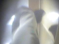 Spy cam in women changing room shoots leggy amateur