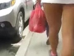 glamorous legs on the street