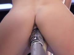 Crazy fetish, ebony xxx movie with incredible pornstar Dallas Black from Fuckingmachines
