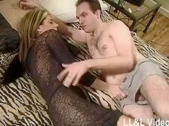A wife makes her little weenie spouse see her fuck her darksome paramour