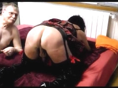 Crossdresser Spanking Session