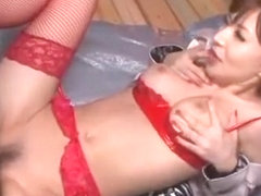 Horny Japanese slut Yuria Satomi in Incredible Couple, Blowjob JAV scene