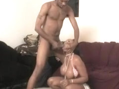 Voluptuous caramel hottie takes a big black dick for an exciting ride