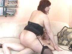 Big tits mature asslick and cumshot