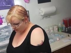 goth girl gets her nipple pierced