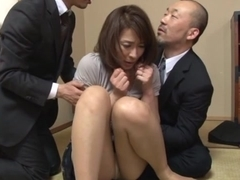 Hisae Yabe hot mature babe in mmf group action