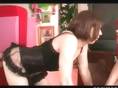 Sissy Boy's Ruined Agonorgasmos Cum Eating