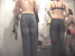 Girls go out of their jeans on spy cam in dressing room