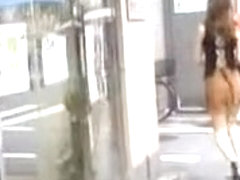 Exotic sweet hottie having first sharking experience in the streets