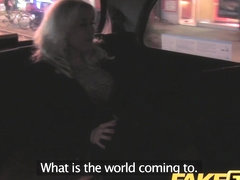 FakeTaxi: Older blond hungry for late night dick