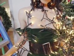 Xmas Sex for Naughty Teen Elf Lucie Cline
