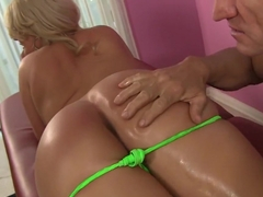 Hottest pornstar Julie Cash in incredible facial, blonde porn scene