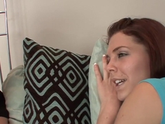 Exotic pornstars Kiera Winters and Maple Lee in best lesbian, masturbation porn clip
