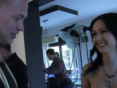Angell Summers takes on two stiff cocks