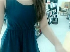 Sweet nerdy girl masturbates on cam