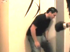 Girlfiend beating boyfriend with gloves