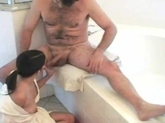 Latina MILF gets fucked silly in the bathroom