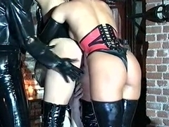 Two femdom mistresses humiliating a slave girl