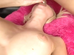 Slender blond girl Rikki Six swallows a ramrod unfathomable